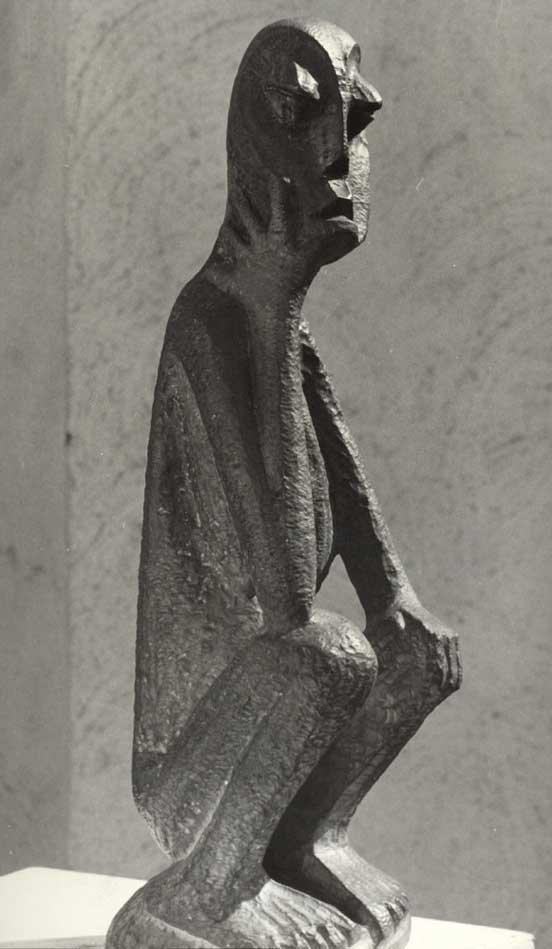 "Lucas SITHOLE LS6317.1 ""Seated figure"" (""Thinking""), abt. 1963 - bronze 1st edition"