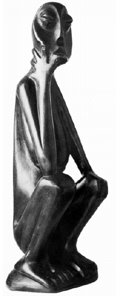 "Lucas SITHOLE LS6317.2 ""Seated figure"" (""Thinking""), abt. 1963 - bronze 2nd edition"