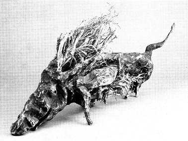 "LS8812 Lucas SITHOLE ""You won't find me any more! (Warthog)"" 1988 Indigenous wood (root) 053x118x027 cm (left view)"