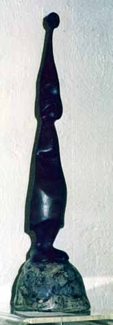 "Query ""X"" Lucas SITHOLE ""Figure (?)"", 1974 (?) wood (?) on liquid steel base - meas. n/a"