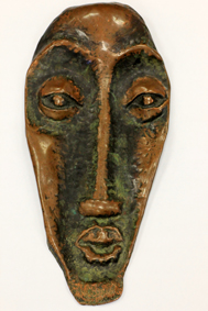 "Lucas SITHOLE ""Head in copper"", late transitional period (discovered in 2011)"